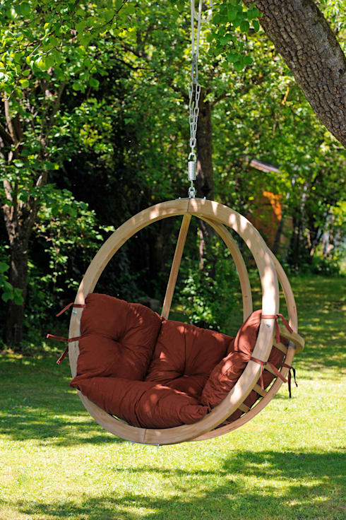Hängesessel Globo Chair:  Balkon, Veranda & Terrasse von AMAZONAS GmbH