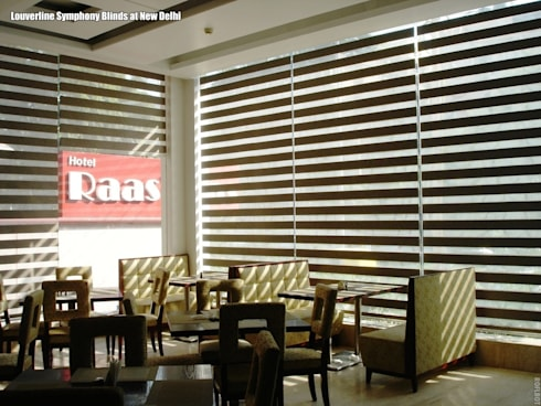Zebra Window Blinds / Shades: asian Living room by Louverline Blinds