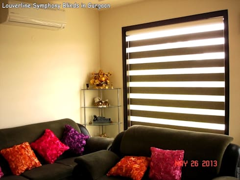 Zebra Shades / Blinds: asian Living room by Louverline Blinds