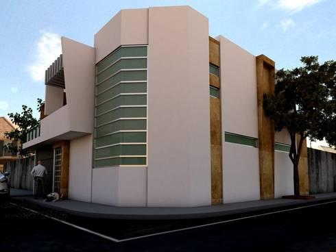 Residencia Luis Moya: Casas de estilo moderno por 3D MarqJes arquitecto