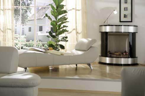 AVUS Ethanolkamin: moderne Wohnzimmer von Kamin-Design GmbH & Co KG