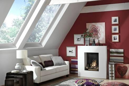 Quattro - Ethanolkamin: moderne Wohnzimmer von Kamin-Design GmbH & Co KG