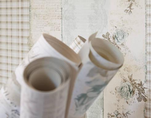 Coleccion Djooz: Paredes y suelos de estilo rústico de Disbar Papeles Pintados