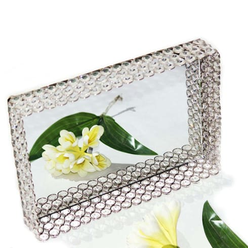 Crystal & Mirror Decorative Serving Tray:  Kitchen by M4design