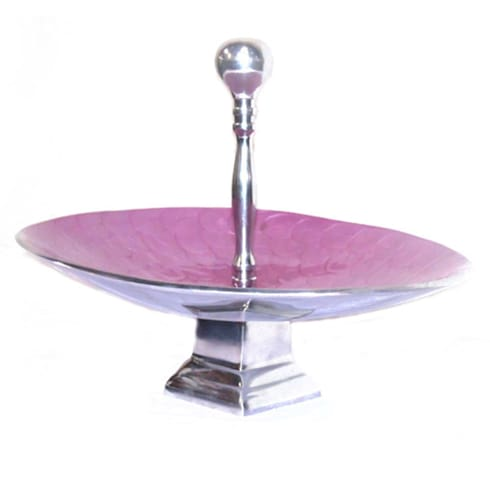 Pink Enamel Fruit Bowl Stand / Cake Stand:  Kitchen by M4design