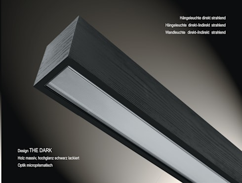 """Design """"The Dark"""": moderne Wohnzimmer von Lignalux"""