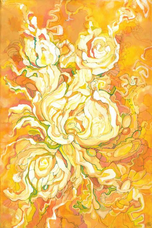 Yellow dance:  Artwork by Victoria Zukovska