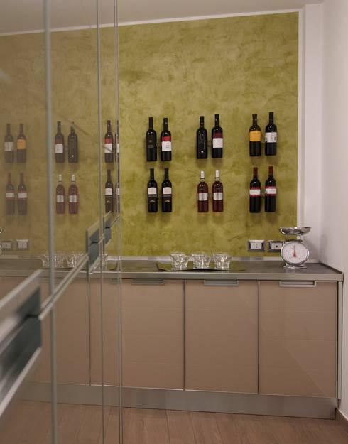 modern Wine cellar by marco olivo