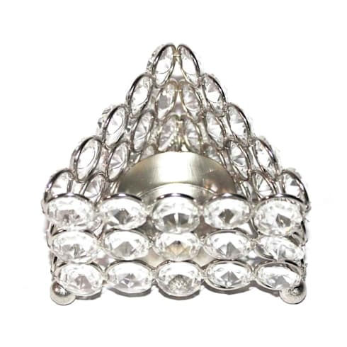 Crystal Triangle Tealight Holder/ Celebration Gifts:  Household by M4design