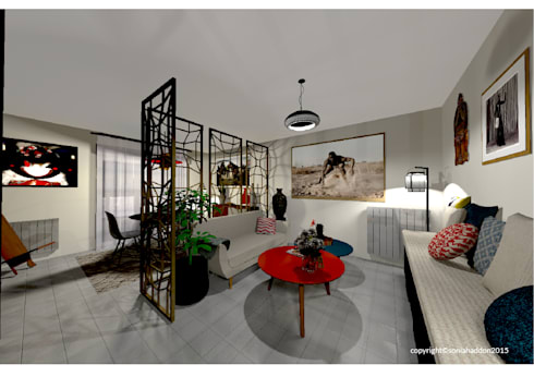 am nagement d 39 un appartement de 70m2 en is re par sonia haddon interior designer homify. Black Bedroom Furniture Sets. Home Design Ideas