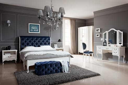 Bed W- S/S 180: classic Bedroom by Royz Furniture