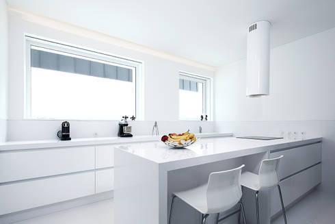 Casa José Prata: Cozinhas modernas por Barbosa & Guimarães, Lda.