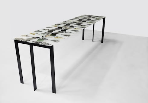 Losango Dining Table: modern Dining room by Briggs & Cole