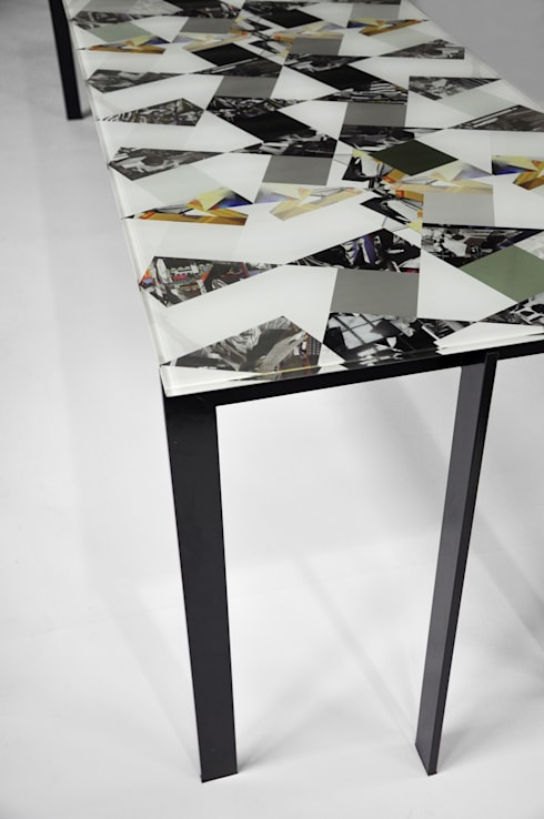Losango Dining Table (Detail): modern Dining room by Briggs & Cole