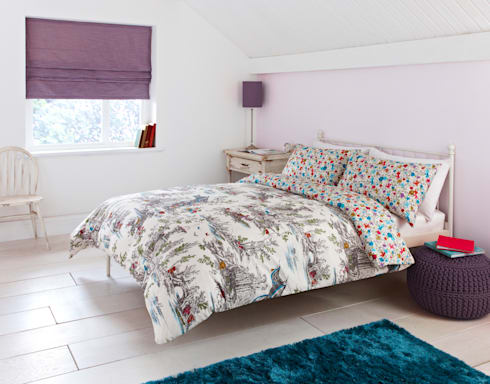 """Mazelle"" Bedding: eclectic Bedroom by Dandylion Designs"