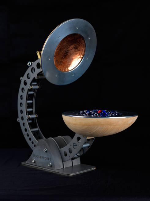 Clamshell Alchemist lamp: industrial Living room by BLOTT WORKS