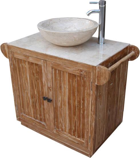 Exotisches Vintage-Waschbecken fürs Bad: asiatische Badezimmer von Guru-Shop