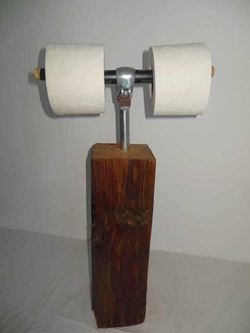 Toilettenpapierhalter :  Badezimmer von Holzsteinkunstobjekte