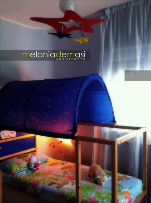 Projekty,  Pokój dziecięcy zaprojektowane przez melania de masi architetto