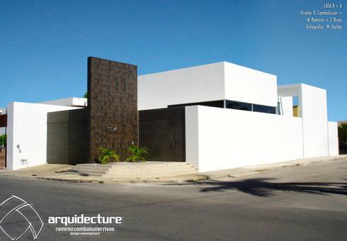 CASA A + A:  de estilo  por Grupo Arquidecture