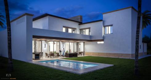 Jardin:  de estilo  por Eugenio Adame Arquitectos