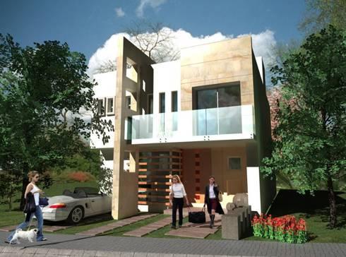 CIMA: Casas de estilo moderno por TOA Design
