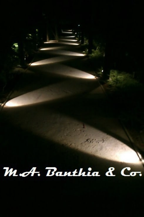 Landscape Lights Effects.:  Interior landscaping by M.A. Banthia & Co.
