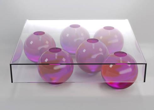 MOLECULES: minimalistic Living room by LAURENTMULLER