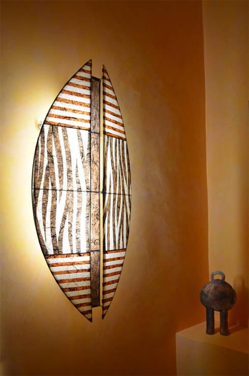 Aegide Zebra: koloniale Badezimmer von espo-leuchten