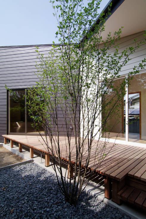 稜線の家: ウタグチシホ建築アトリエ/Utaguchi Architectural Atelierが手掛けたテラス・ベランダです。