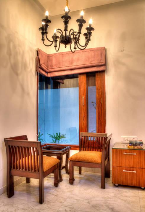 Bedroom Corner:  Houses by Studio An-V-Thot Architects Pvt. Ltd.