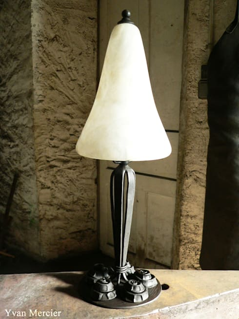Lampes diverses:  de style  par Yvan Mercier Ferronnier