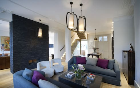 St James's Gardens, London: modern Living room by Nelson Design Limited