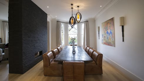 St James's Gardens, London: modern Dining room by Nelson Design Limited