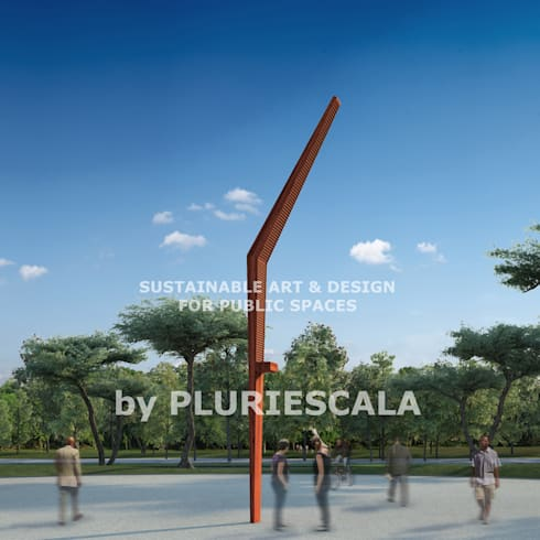 Sustainable Art and Design for public spaces: Jardim  por PLURIESCALA - ARQUITECTURA, PLANEAMENTO E DESIGN LDA