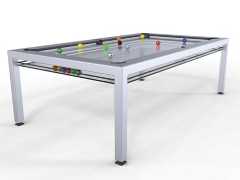 G4 Glass Pool Table:  Multimedia room by Quantum Play
