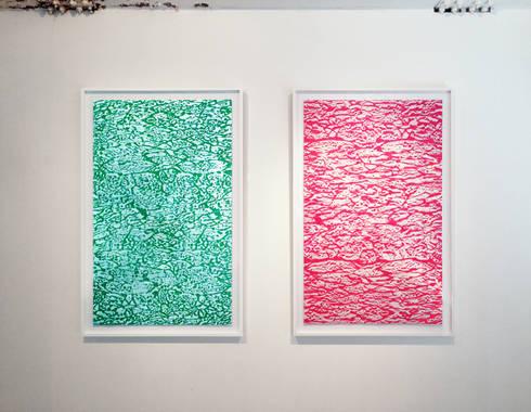 Pink Meat & Green Meat: Saiが手掛けたアートです。