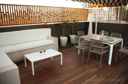 Terraza de diseño en Catarroja, Valencia: Terrazas de estilo  de Ideas Interiorismo Exclusivo, SLU