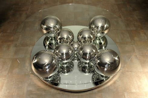 table basse boules inox by design bois creation homify. Black Bedroom Furniture Sets. Home Design Ideas