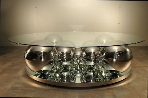 table basse boules inox par design bois creation homify. Black Bedroom Furniture Sets. Home Design Ideas