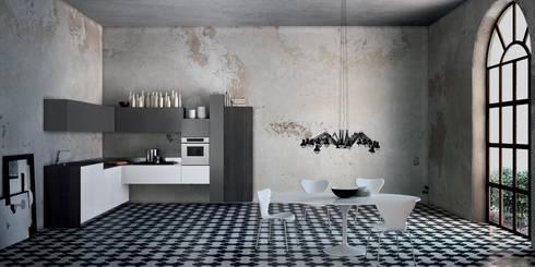 Italian Modular Kitchens: minimalistic Kitchen by Grandeur Interiors