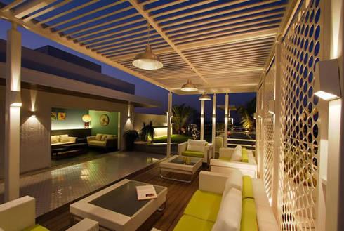 Manish Patel Penthouse:   by Dipen Gada & Associates