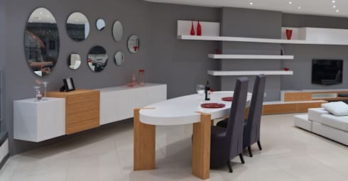 spider table: modern Dining room by Hconcept Interiors London Ltd.