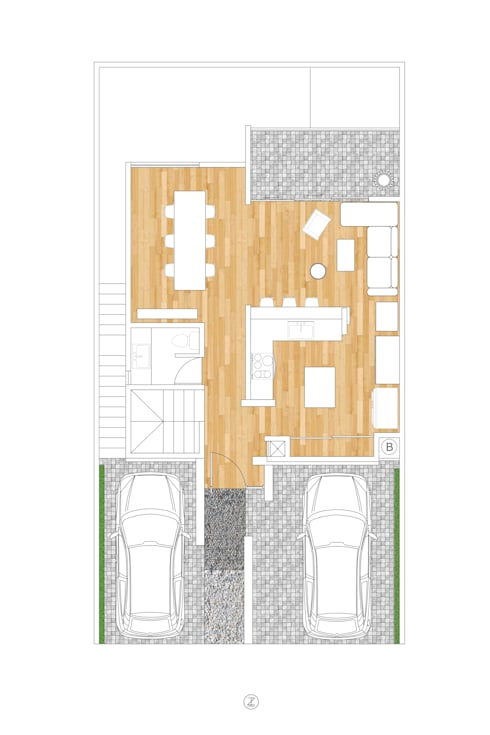 Casa NDLV:  de estilo  por Lozano Arquitectos