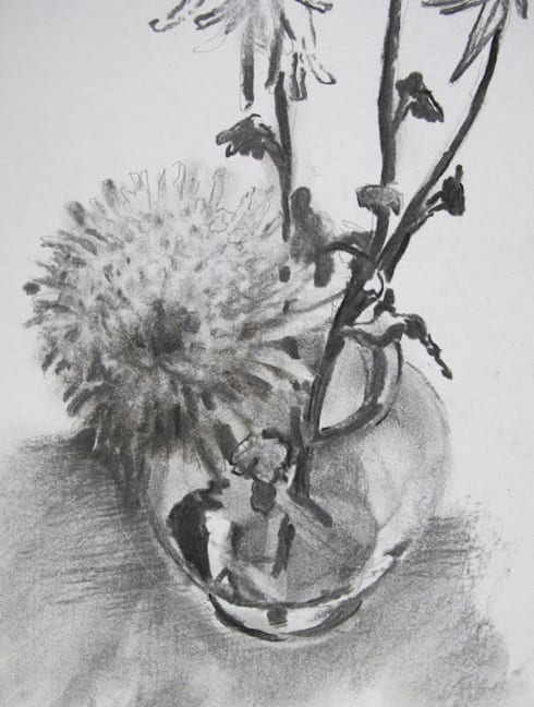 charcoal and pencil art works:  Artwork by SHEEVIA  INTERIOR CONCEPTS