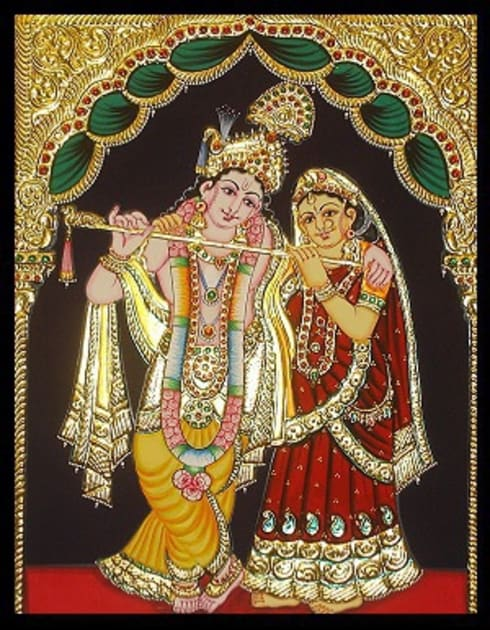 Precious Tanjore paintings and Kerala murals :  Artwork by SHEEVIA  INTERIOR CONCEPTS