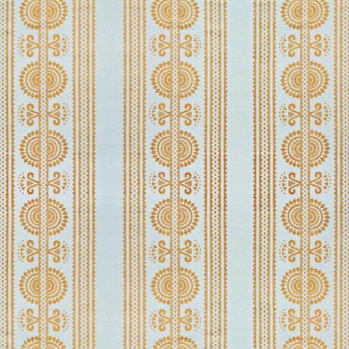 Kurpie :: Fabric :: Gold: eclectic Living room by Julia Brendel Limited