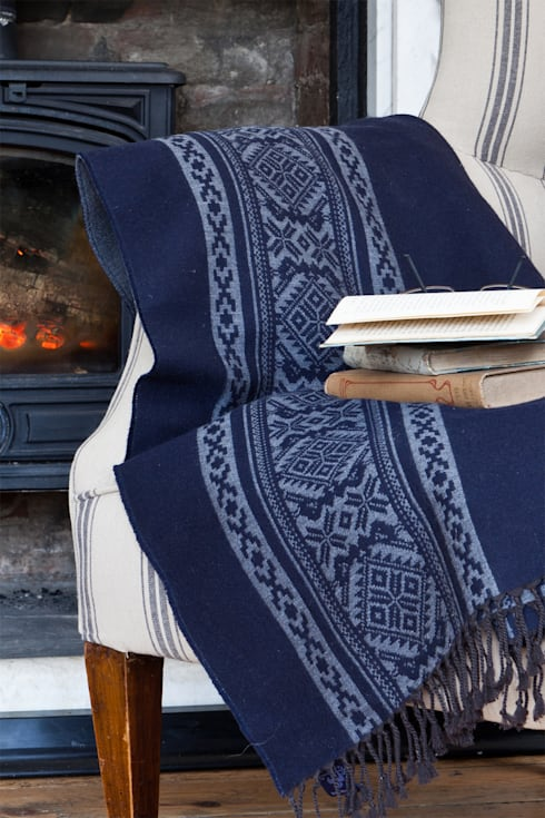 Hungarica :: Throw :: Navy / Mouse  : classic Living room by Julia Brendel Limited