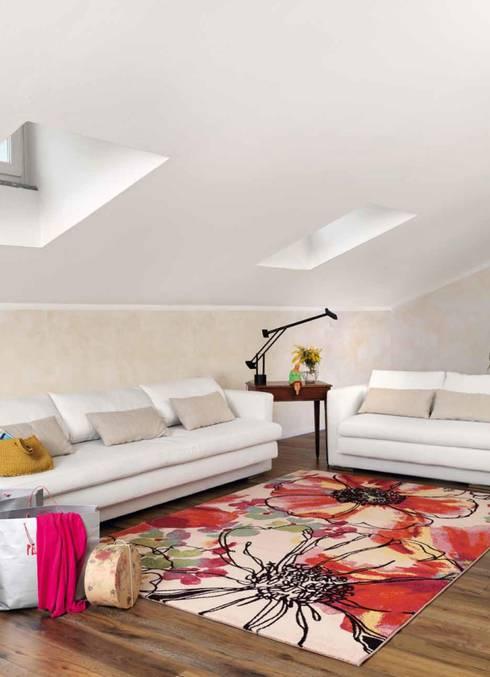 Alfombra Moderna Capri 32041: Paredes y suelos de estilo  de Paco Escrivá Muebles