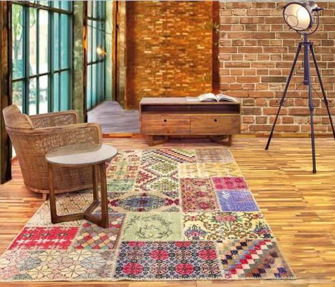 Alfombra de Lana Patchwork Deco: Paredes y suelos de estilo  de Paco Escrivá Muebles